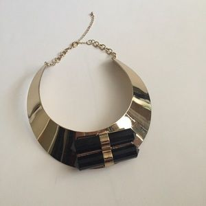 Nasty Gal black and gold collar necklace